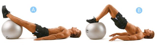 Упражнения с фитболом для мужчин или упражнения с гимнастическим мячом для фитнеса