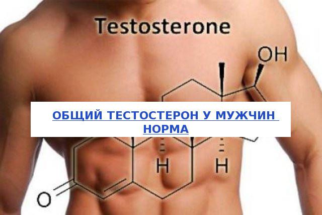 Общий тестостерон - норма у мужчин