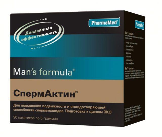 Спермактин: состав и инструкция по применению