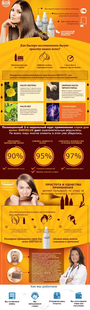 shevelux(шевелюкс): купить, цена на спрей для волос в аптеке и на сайте