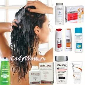 Эффективный шампунь против выпадения волос : «Текна», «Ринфолтил», «Низ