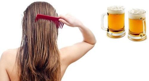 Маска для волос с пивом - естественная густота для слабых волос