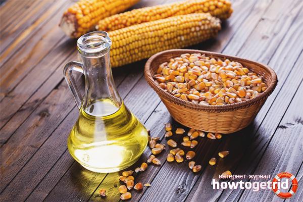 Кукурузное масло для волос: польза и оздоровление