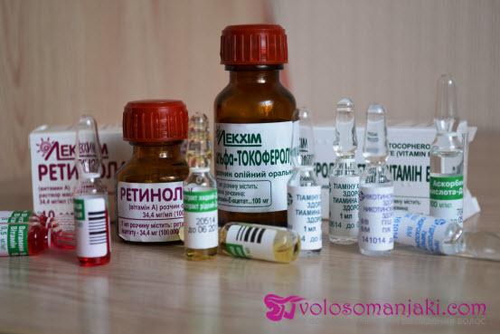 Витамин А для волос: жидкий в ампулах, как пить и применять, маски с витаминами