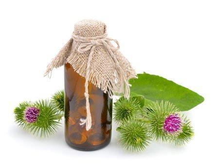 Маска для волос с маслом репейным от выпадения локонов