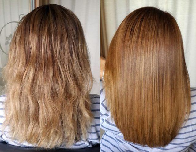 Шампунь для выпрямления волос после кератинового разглаживания