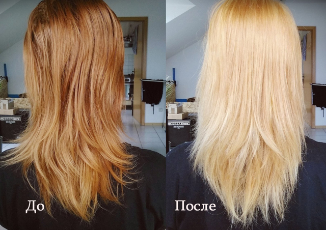 Сколько держать перекись водорода на волосах